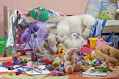 Messy Kids Room With Toys Stock Images  Image 25989014