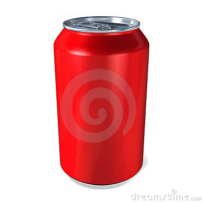 Metal Drinks Can In Red Royalty Free Stock Image - Image: 8217566