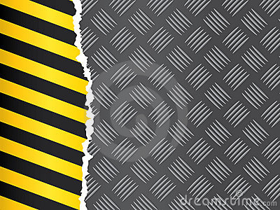 3d Animation Wallpaper Download Metal Floor With Hazard Tape Royalty Free Stock Photo