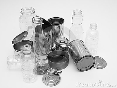 Metal Glass And Plastic Containers For Recycling Stock Photography  Image 12434682