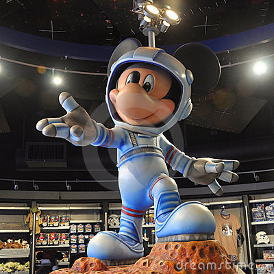 Mickey Mouse In Space Suit Editorial Image  Image 23287170