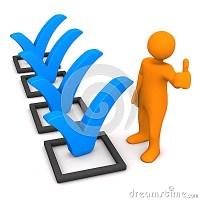 Mnnchen-Checklisten-O.K. Stock Abbildung - Bild: 72311853