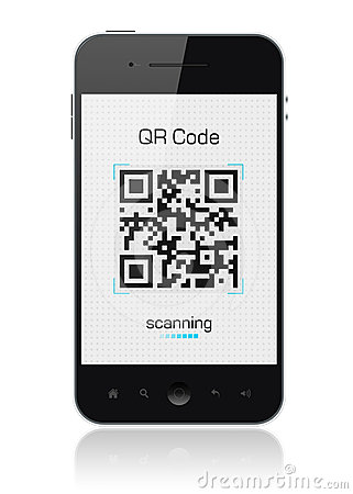 Mobile Smart Phone Showing QR Code Scanner Editorial Stock Photo  Image 24391748