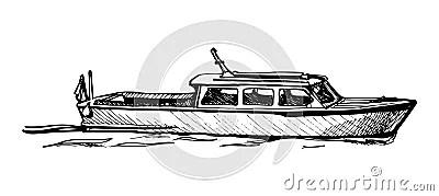 Motor Boats: Motor Boat Vector Free Download