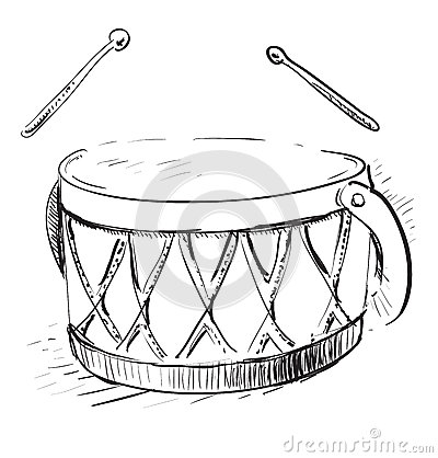 Pencil Of Drum Coloring Pages