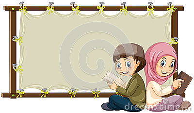 Muslim And Banner Stock Vector  Image 52778407