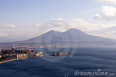 Naples And Mt. Vesuvius