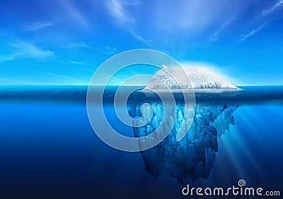 Natural Iceberg with Polar Bear