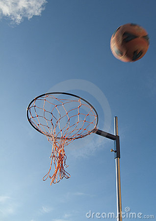 Netball Hoop And Netball Royalty Free Stock Photos  Image