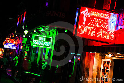 New Orleans Bourbon Street Bars And Sex Clubs 2 Editorial