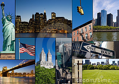 New York Collage Royalty Free Stock Photography Image
