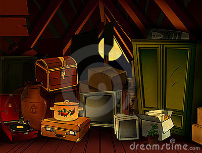 Night Attic Royalty Free Stock Images  Image 10990159