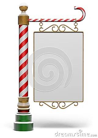 North Pole Sign Stock Photo Image 26138450