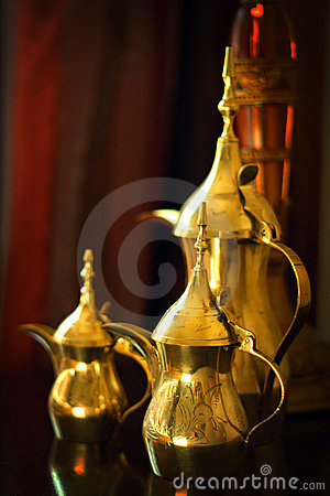 Cute Styles Girl Wallpaper Objects Arabic Coffee Pots Stock Image Image 18727651
