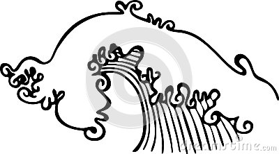 Ocean Wave Clipart Black And White