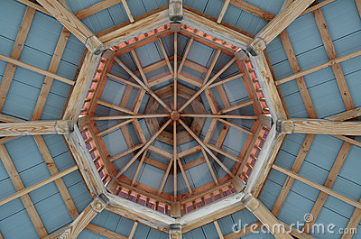 Octagonal Gazebo Roof Pattern Royalty Free Stock Image