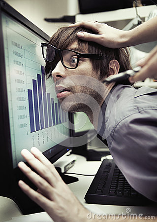 Office Worker Forced To Work Harder Stock Photography - Image: 30135702