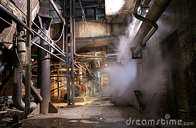 Old Abandoned Factory Steam Pipe Stock Image  Image 15839691