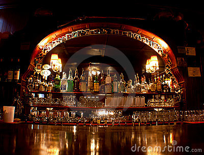 Old Fashioned Western Saloon Bar Editorial Photography