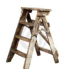 Antique Wood Chair Rocking Chairs Cracker Barrel Old Painters Ladder Royalty Free Stock Photography - Image: 17714707
