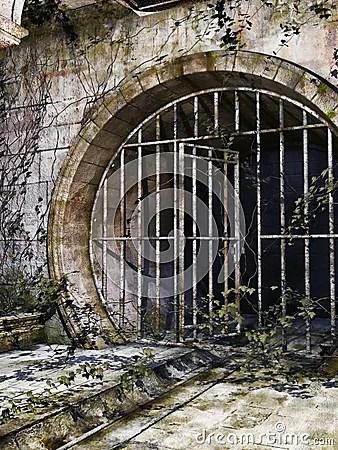 Old Sewer Entrance Stock Illustration  Image 39353533