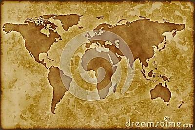 Old Worldmap Royalty Free Stock Photo  Image 8370075