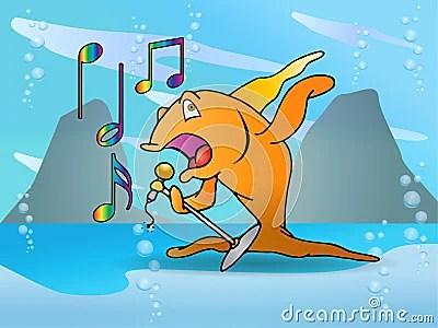 Orange Fish Singing Performance Stock Images  Image 15473234