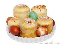 Ostern-Kuchen Und Gemalte Eier Stockbilder - Bild: 24402514