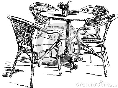 Outdoor Cafe Royalty Free Stock Image  Image 33342386