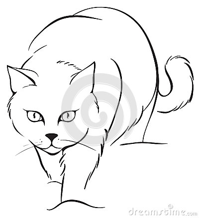 Outline Cat Royalty Free Stock Image Image 28272716
