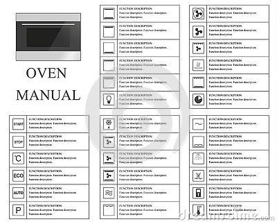 Oven Manual Symbols. Instructions. Signs And Symbols For