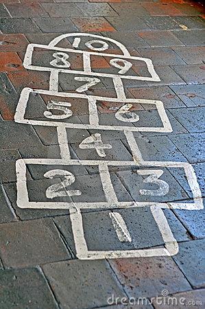 Painted Hopscotch Board Royalty Free Stock Images  Image 15747159