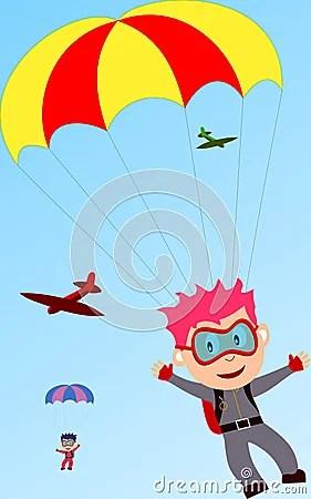Parachute Boys Royalty Free Stock Photos Image 3666318