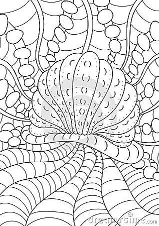 Pattern For Coloring Book. Ethnic Retro Design Stock