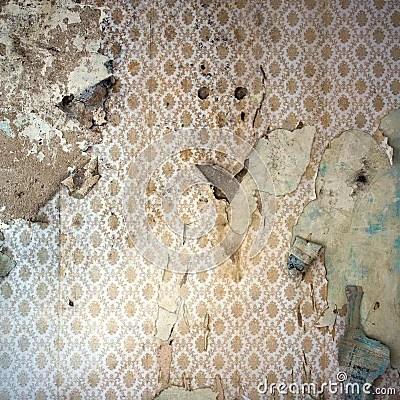 Paint Falling Wallpaper Peeling Wallpaper Damaged Wal Stock Photography Image
