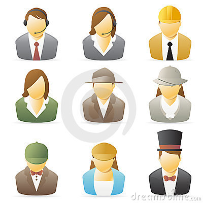 People Icon Occupations Set 2 Royalty Free Stock Photo  Image 8065395