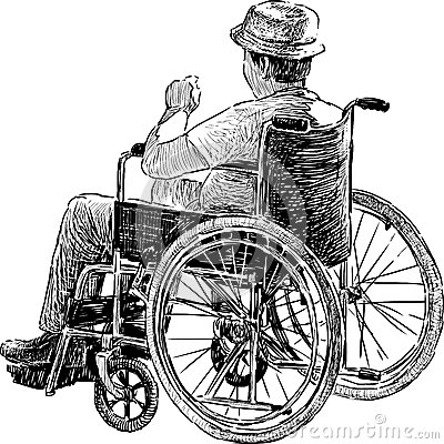 Person In Wheelchair Stock Photo  Image 33794930