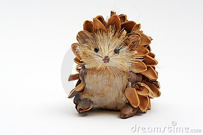 Pine Cone Hedgehog Stock Photo Image 1273580