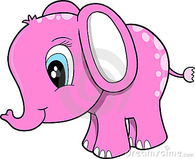 Pink Elephant Vector Illustration Royalty Free Stock Images  Image 9646379