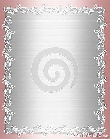 Pink Satin Shabby Chic Border Stock Photos Image 9174473