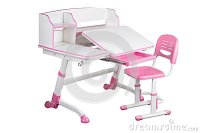 Pink School Desk And Pink Chair Stock Photo - Image: 89121448