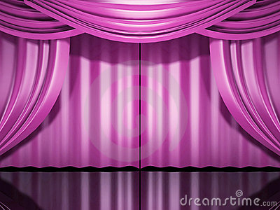 Pink Stage Drapes Stock Photos  Image 6266873