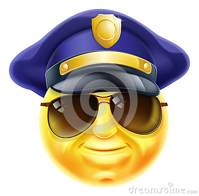Police Emoji Emoticon Stock Vector Image 61793427