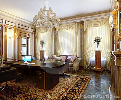 Posh Office In A Classic Style Stock Image  Image 13939211