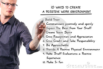 Positive Work Environment Stock Image Image 27087191