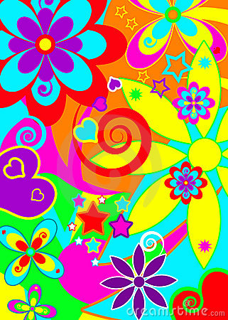 Psychedelic Funky Background Royalty Free Stock