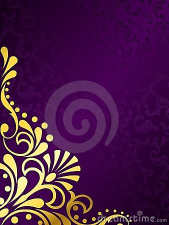 Chocolate Cute Wallpaper Purple Background With Gold Filigree Vertical Stock