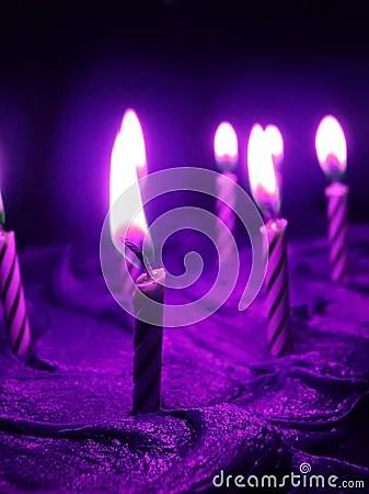 Purple Birthday Stock Image Image 2172521