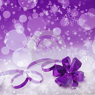 Purple Christmas Gift Background Stock Photo Image 44792063