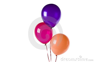 Purple Red And Orange Balloons Royalty Free Stock Photo